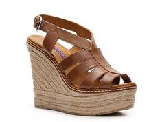 Ralph Lauren Collection Fianna Leather Wedge Sandal Womens Wedge Sandals Sandals Womens Shoes - DSW