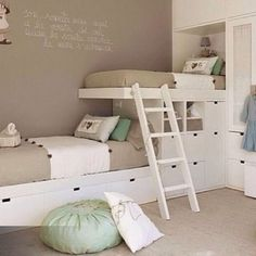 76 Cute Kids Bedroom Furniture Bunk Beds Ideas - About-Ruth Bunk Bed Rooms, Bunk Beds Built In, Bunk Beds With Stairs, Cool Bunk Beds, Kids Bunk Beds, Built In Beds For Kids, Boys Bunk Bed Room Ideas, Bunk Beds With Storage, Kids Beds For Boys