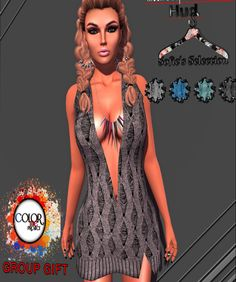 Free Mesh V-Neck Dress Second Life Freebies and Free Group Gifts. Visit NessMarket aka nessajafreebies to find freebies, gifts, mania, luckies, sales...