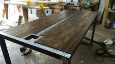 Rustic Reclaimed Wood Conference Table or office desk. This is 60x30x30. I can…