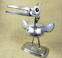 robot bird  jewelry box  SQUAWKER  found object by reclaim2fame, $151.00