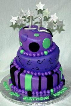 12th birthday cakes for girls   Purple Topsy Turvy 12th Birthday Cake Noelle   Flickr - Photo Sharing!