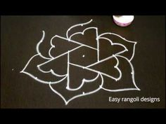 simple and innovative rangoli designs || easy kolam designs with 9 dots || muggulu with colors - YouTube