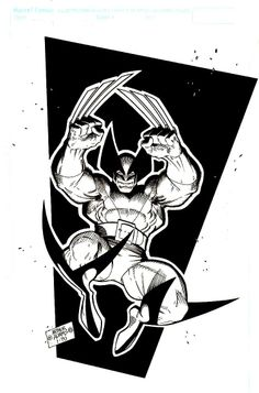 Image of Arthur Adams Wolverine T-Shirt and Poster Art Page | Inv #800080271 | Heritage Auctions