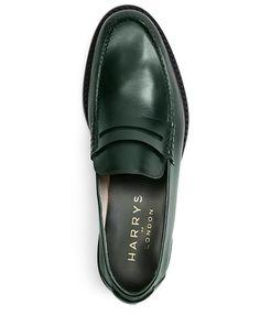 Harrys of London Leather Dean LoafersDark Green