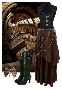 """""""Steampunk Colors"""" by rubysal ❤ liked on Polyvore featuring steampunk"""