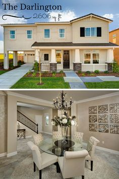 The Darlington showing off its Formal Dining Room Option. Luxurious living in Manteca, CA with Raymus Homes!