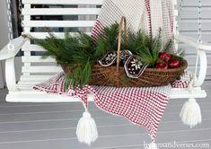 Cozy Christmas Screen Porch