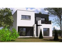 Cette maison moderne aux volumes cubiques offre une surface