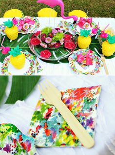Flamingos & Pineapples Summer Birthday {Joint Party}