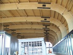 Architecture Glulam Construction, Unalam fabricated those huge archs for the building that is LEED Platinum!