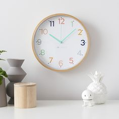 New at little whimsy children's boutique Clock For Kids, Kids Clocks, Wall Clock Price, Weeks Until Christmas, Lesbian Gifts, Rainbow Wall, Christmas Gift Guide, Telling Time, Kid Spaces