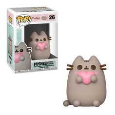 Pusheen with Heart Pop! This Pusheen with Heart Pop! Ages 3 and up. Pusheen with Pizza Pop! Nobody is perfect, however, and we know that. Pop Vinyl Figures, Funko Pop Figures, Pop One Piece, Best Funko Pop, Funko Pop Display, Funko Pop Dolls, Pop Toys, Pusheen Cat, Pop Collection