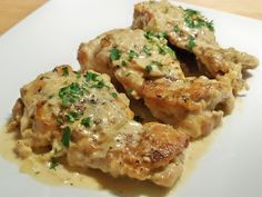 Chicken Fricassee - looks yummy, probably because of the heavy cream, yikes!