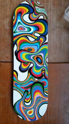 Skatedeck inspired by artist Matt W. Moore. Student aged 14.