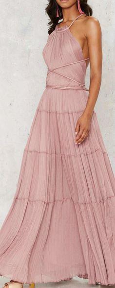 dusty rose maxi dress