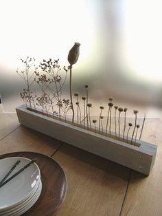 dried seed head flower arrangement