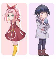 Cute Sakura and hinata