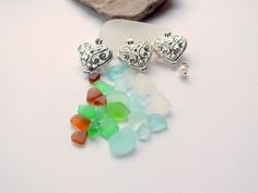 Locket Beach Glass Sea Glass Fillable Choose by beachglassshop, $25.00