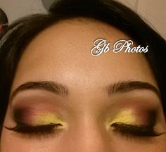 Smokey eyes with pink and yellow. Great for Fall or a night out.