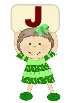 "Alfabetos meninas ""J"""