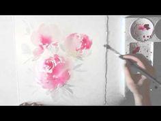 Watercolour Painting Tutorial - Peonies