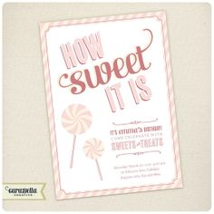Sweet Candy Party Invitation Birthday Bridal Shower, Baby Shower, Engagement, Printable by CaraBellaCreative, $16.00