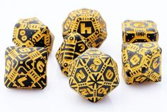 Are you ready for out of this world adventure? Then tell your story with Tech Dice (Black-Orange). This scifi inspired dice set is the logical choice for futuristic role playing games. Works great for