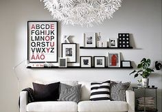 How to style the IKEA RIBBA Picture Ledge