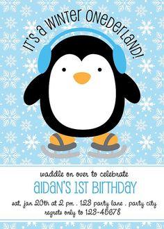 Winter ONEderland Birthday Party Invitation by AimeeCreation, $12.00