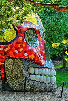 Skull from the Side by Niki de Saint Phalle'