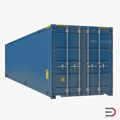 40 ft ISO Container Blue 2