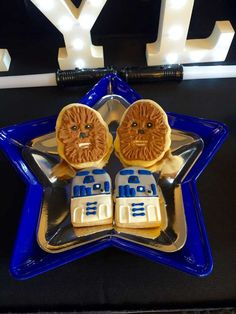 Awesome cookies at a Star Wars birthday party! See more party ideas at http://CatchMyParty.com!