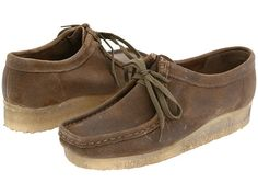 Clarks Wallabee - Womens Beeswax Leather - Zappos.com Free Shipping BOTH Ways -Taupe Distressed