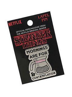 Stranger Things Mornings Enamel Pin, my mantra Cute Patches, Pin And Patches, Watch Stranger Things, Cool Pins, Patch Kids, Up Girl, Pin Badges, Lapel Pins, Vinyl Figures