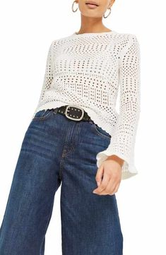 Women's New Arrivals: Clothing, Shoes & Beauty Pullover, Flute, New Outfits, Mom Jeans, Trunks, Topshop, Bell Sleeve Top, Nordstrom, Stitch