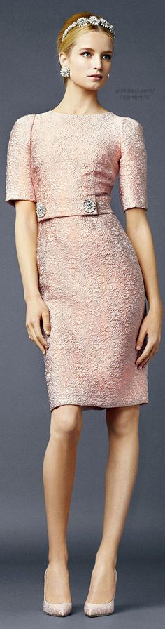 Dolce & Gabbana pink cocktail dress