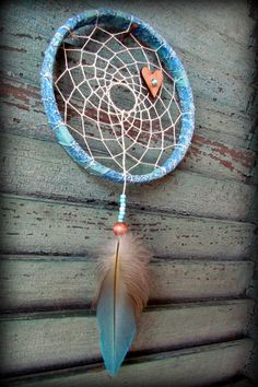 Dream Catcher  bohemian baby 5 inch hoop  by wingedwhimsy on Etsy, $28.00