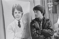 Alex from 'Family Ties' looking at himself...