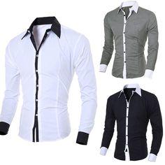 Mens Fashion T-Shirt Personality Men's Casual Slim Long-sleeved Shirt Blouse Top. - Mens Fashion T-Shirt Personality Men's Casual Slim Long-sleeved Shirt Blouse Top - Shorts Casual, Slim Fit Casual Shirts, Men Casual, Casual Clothes, Shirts & Tops, Linen Shirts, Business Shirts, Business Men, Shirt Style