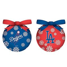 MLB Los Angeles Dodgers LED Lighted Christmas Ornament Set (Set of 6) - BedBathandBeyond.com