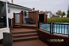 Pool deck and patio ideas images. We specialise in pool deck and patio installation. Above Ground Pool Fence, Fence Around Pool, Decks Around Pools, Above Ground Pool Landscaping, Backyard Pool Landscaping, Backyard Pergola, In Ground Pools, Deck Patio, Gazebo
