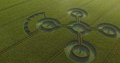 Vier bijzondere graancirkels ontdekt. Kijk hier naar deze unieke dronevideo