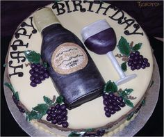 18 Best Wine Bottle Cake Images On Pinterest