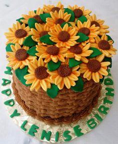 Sweet Suga Mama's Flower Basket Cake-Order Now! New York City area! http://www.sweetsugamamas.com/#!contact/c11m6