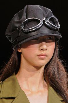 b37db8dc60 Vntage airplane pilot hat  amp  eyeglasses   Yohji Yamamoto Spring 2013   PFW Paris Fashion