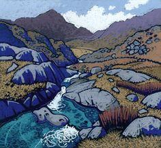 Chris Neale Studio - signed limited edition art prints and original artwork Landscape Art, Landscape Paintings, Landscape Drawings, Soul Art, Naive Art, Print Artist, Land Scape, Les Oeuvres, Abstract Art