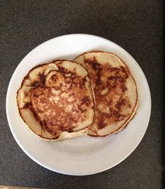 Banana nut pancakes-  1 cup oatmeal 1/2 cup plain Greek yogurt Ripe banana 4 egg whites 1 while egg 1 tsp baking powder Mix all in blender, add 2 tbsp chopped almonds or walnuts, cook in hot pan in Olive oil. Serve with fresh fruit, coconut or eat plain