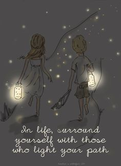 In life, surround yourself with those who light your path. Beach Summer Art by RoseHillDesignStudio