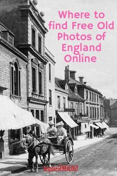 Where to find free old photos of England online. This post from Bespoke Genealogy looks at how you can find free historical images of England and download them for free. Useful for genealogy and historical research. #genealogy #england #history #englishhi